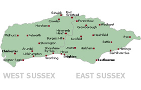 We Cover All of Sussex